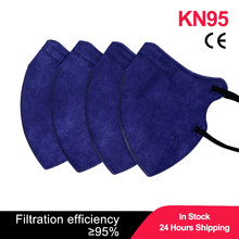 Navy Adult FFP2 Mask KN95 Mascarillas Face Masks Mouth KN95 Mask FFP2MASK Mouth Caps 5 layer FFP2 Protective Masque Filter Dust