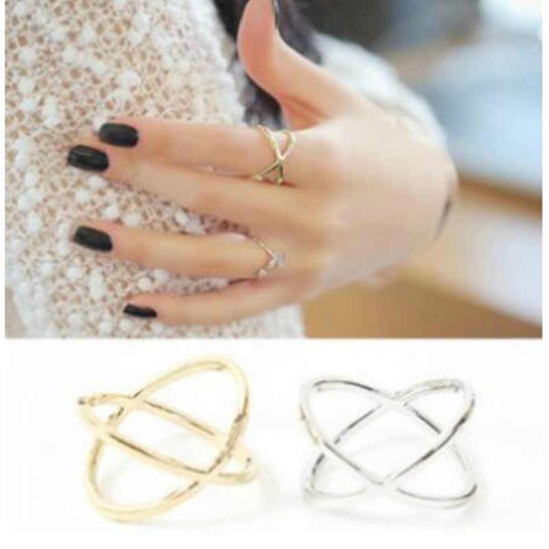 Кольцо на палец 3D крест полые кольца модные парные кольца для женщин и мужчин Классические Мужские t ювелирные изделия вечерние подарок оптовая продажа WD382