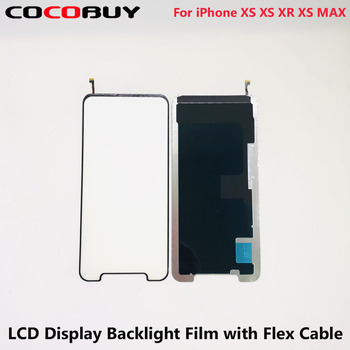 10 pcs/lot Novecel Wholesale LCD Display Backlight Film with Flex Cable for iPhone X XS XR XS MAX