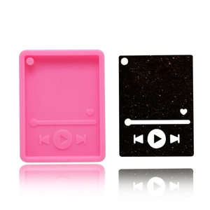 Handmade Music MP3 Keychain Silicone Mold Musical Lovers MP3 Player Pendant Polymer Clay Epoxy Resin Jewelry Making Tool