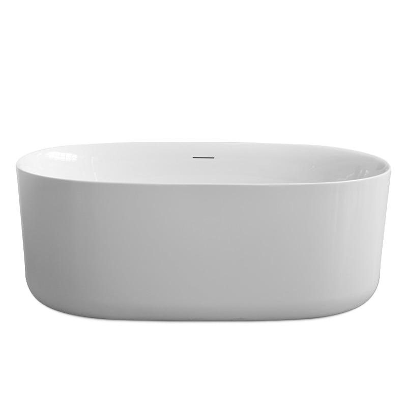 Aojin acrílico banheira família banheiro europeu simples 1500mm independente grande banheira-5