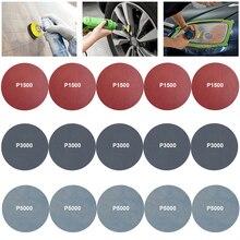 30/15 pçs discos de lixamento almofada polimento diy faróis do carro reparação restauração kits lixa roda de luz do carro polonês lixa papel