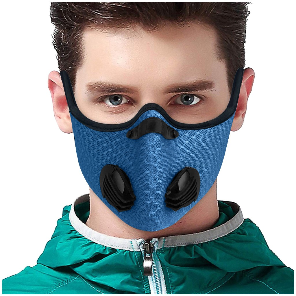 Anti-dust Face Masks Activated Carbon Filter PM2.5 Anti Pollution Breathable Mouth Face Masks Washable Respirator Mouth Masks