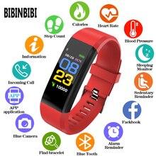 115 Plus Horloge intelligente Gezondheid Hartslag Bloeddruk Fitness Tracker Polsband moniteur Sport Horloge intelligente pour ios android