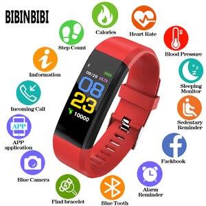 Image 1 - Horloge rastreador de ejercicios inteligente, dispositivo deportivo con control remoto, compatible con android e ios, 115 Plus, Gezondheid, Hartslag, Bloeddruk