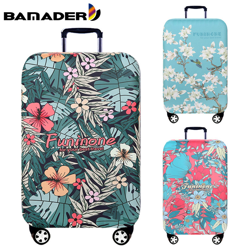 BAMADER Waterproof Luggage Cover Thick Wear-resistant Trunk Lid High Elastic Suitcase Travel Accessories Suitcase Dust Cover