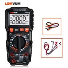 LOMVUM-multimètre numérique TRUE RMS, testeur de température à 6000 points à portée manuelle, capacité AC/DC