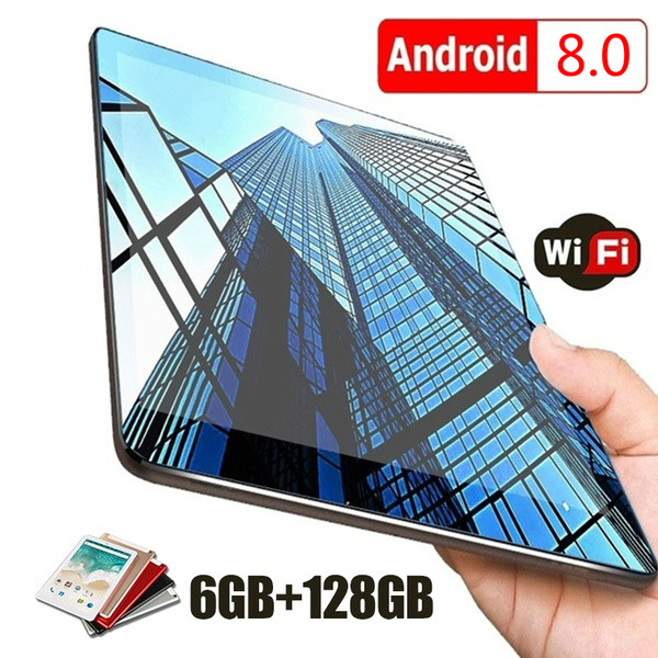 2020 New WiFi Android Tablet 10 Inch Ten Core Android 8.0 Buletooth 4G Network Call Phone Tablet Gifts(RAM 6G+ROM 16G/64G/128G)