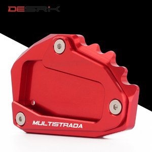 Image 5 - CNC Aluminum Motorcycle Accessories Side Stand Enlarger pad plate kickstand For DUCATI Multistrada 1200 1260 1200S 1200GT 950
