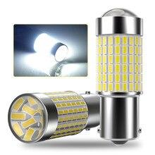 2X 1156 P21W BA15S 1157 Car LED Reverse Light Bulb W16W T15 Auto Backup Lamp For Peugeot 307 206 308 407 207 3008 2008 406 208