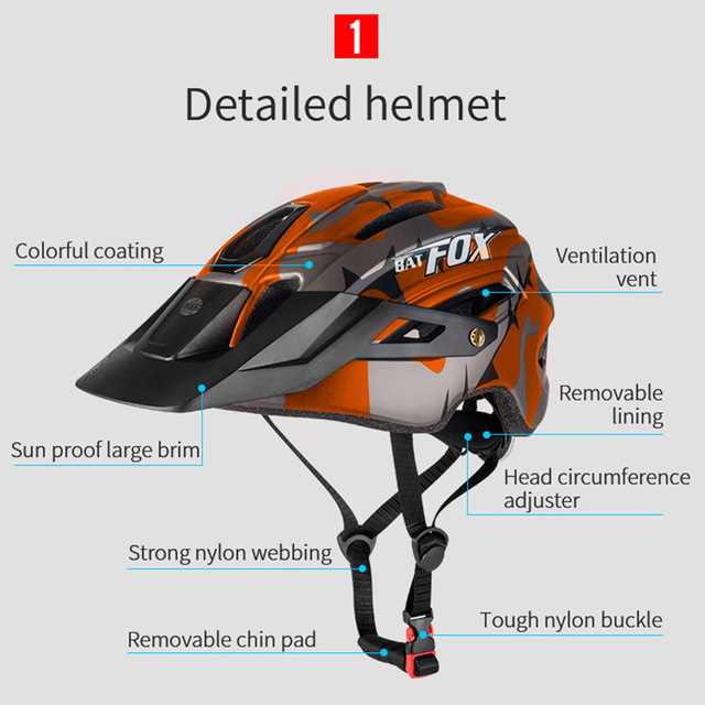 2020 nova batfox capacete de bicicleta para adultos das mulheres dos homens mtb mountain road ciclismo segurança esportes ao ar livre safty capacete 4