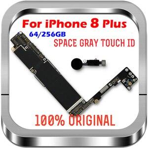Image 2 - Temiz iCloud iPhone 8 için artı anakart 64gb 256gb unlocked iPhone 8 için artı mantık kurulu ile dokunmatik ID cips MB LTE 4G