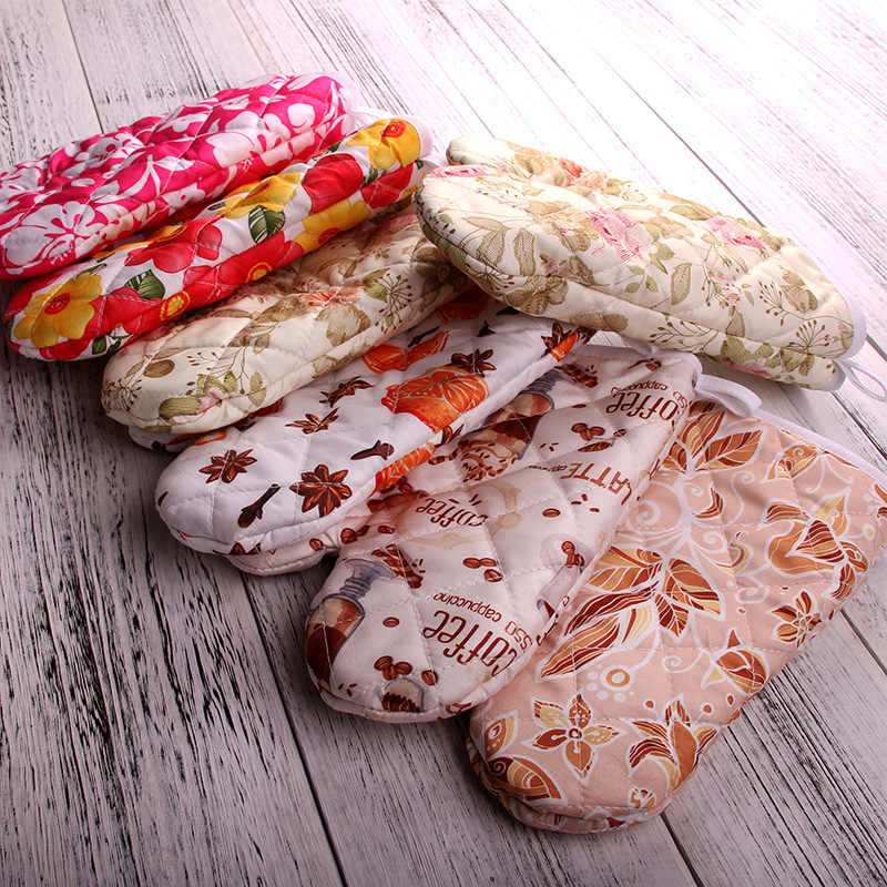 Tool Ovenware Non-slip Thick Cooking Mitts Oven Gloves Microwave Insulation
