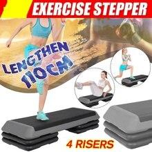 4 steigleitungen 110cm Fitness Aerobic Schritt Nicht-slip Yoga Pedal Stepper Fitnessraum Workout Übung Fitness Aerobic Schritt Ausrüstung last 300KG
