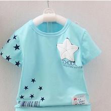 Softu Summer Baby Boys T Shirt Cartoon Car Print Cotton Tops Tees T Shirt for Boys Kids