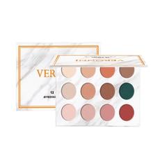 цены VERONNI Shimmer Eyeshadow Matte Eyeshadow Pallete 12 Color Pigmented Eye Shadow Palette Make up Palette maquillage
