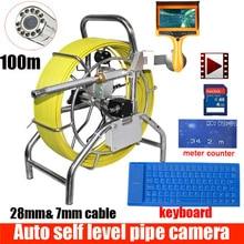 100 м канализационная водонепроницаемая камера, водопровод, самонивелирующийся автоматический баланс, канализационная труба, Инспекционная камера с счетчиком счетчика с monito