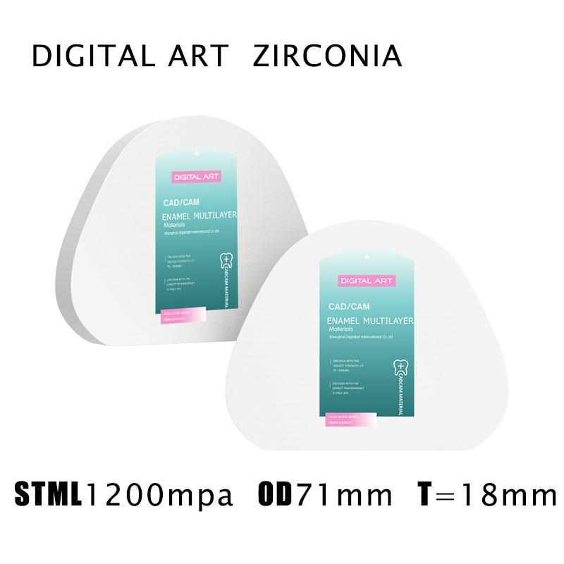 stmlag71mm18mma1 d4 digitalart super translucido amann girrbach multicamadas bloco de zirconia dental para ceramill