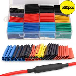 560pcs PE Heat Shrink Tube Assortment Wrap Electrical Insulation Cable Tubing Polyolefin