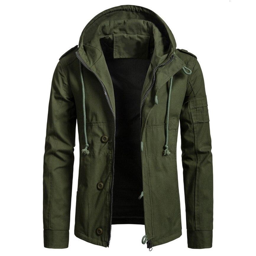 Cotton Hooded Jacket Men 2019 Autumn Winter Cap Cotton Jacket Men Fashion Trend Coat New Style Army Jackets Male Jackets