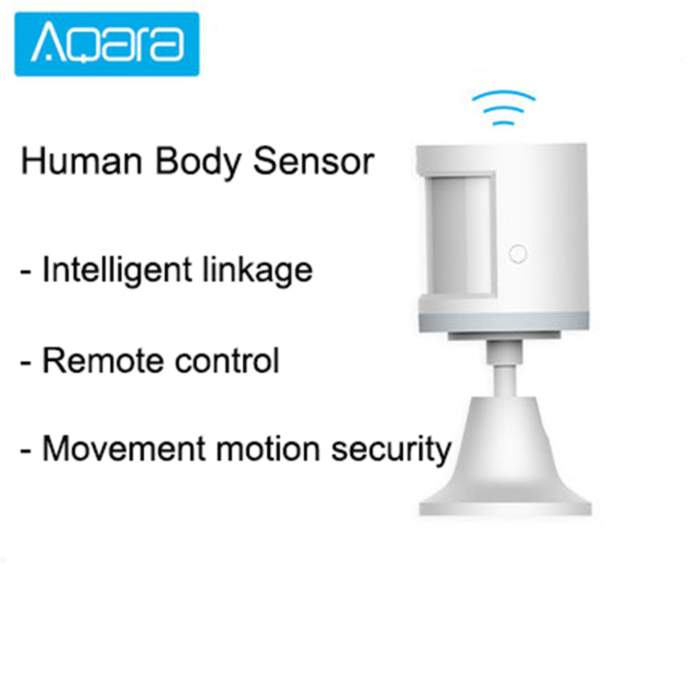 Aqara Human Body Sensor Smart Light Intensity Sensors For Xiaomi Smart Home Accessories Zigbee Connection Work For Mi Home App