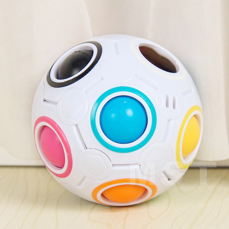 Magic-Cubes Rainbow-Ball Reliever-Toys Novel Educational-Stress Spheric for Children img2
