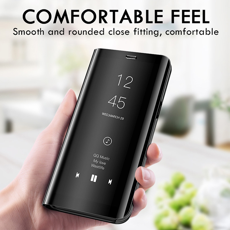 Smart Mirror View Flip Case For Huawei Honor 9X P40 P30 P20 Y9 Y7 Y6 Pro P Smart 2019 2020 Mate 30 20 10 Lite Cover Capa Coque