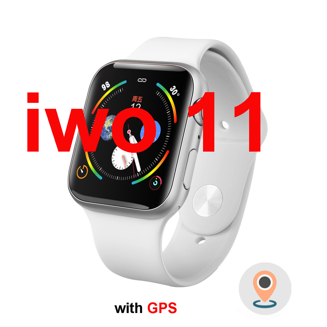 <font><b>44MM</b></font> <font><b>IWO</b></font> 11 SmartWatch GPS Series 5 1:1 PK <font><b>iwo</b></font> 10 9 <font><b>8</b></font> <font><b>Smart</b></font> <font><b>Watch</b></font> Heart Rate Monitor Smartwatch For Apple Android Dropshipping image