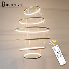 6rings Modern LED Pendant Lights For Living Room Bedroom Dining Room Indoor Home 6 Circle Rings Deco Pendant Lamp pendant light