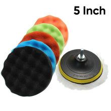 """/5″/6″/7 Inch 30mm Spons Waxen Buff Polijsten Pad Kit Voor Auto Polijstmachine(China)"