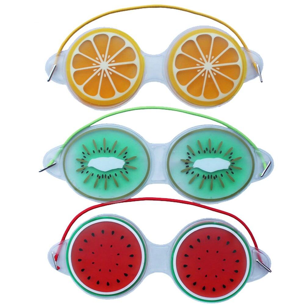 Modèle de Fruits glaçage masque pour les yeux froid compresse chaude Gel Patch pour les yeux