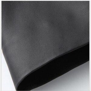 Image 4 - Jaqueta de couro preto topos marca feminina moda lazer solto casaco de pele carneiro primavera outono plus size longo couro genuíno trincheira