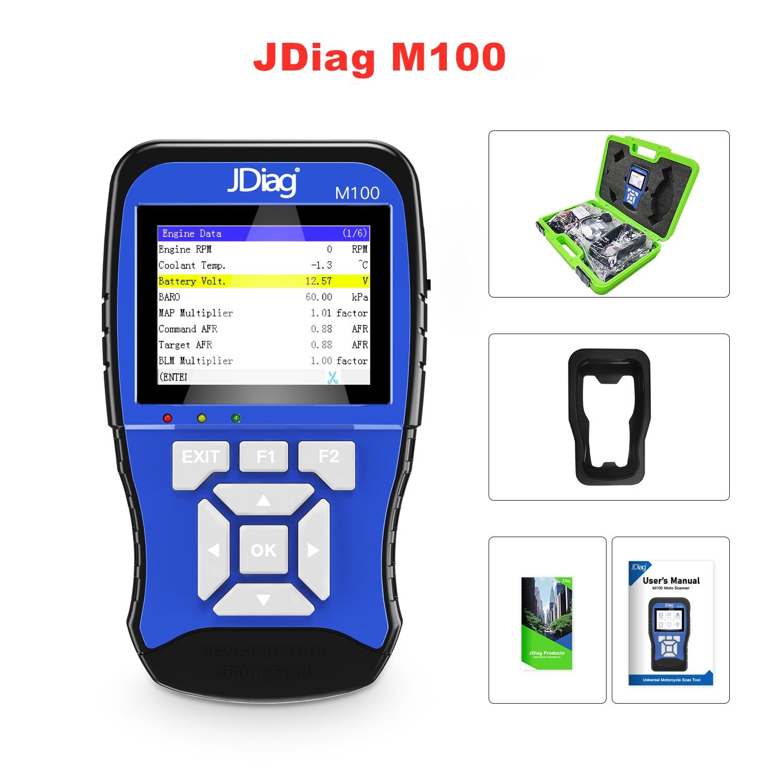 Оригинальный диагностический инструмент JDiag M100 для мотоциклов k-awuan, y-amaha s-uzuki и т. Д.