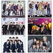 Korean K-POP Band Bangtan boys Poster New style latest poster decoration painting hd photo paper B51(China)