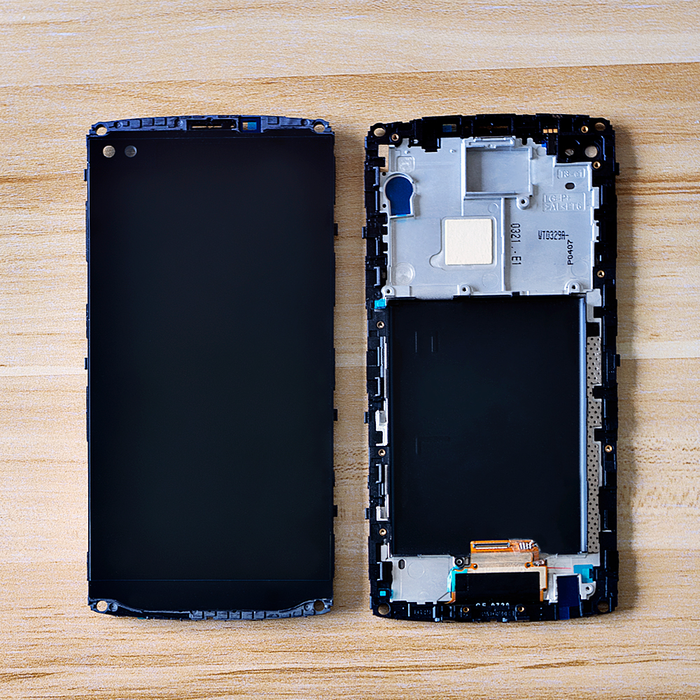 Sinbeda 5.7'' LCD For <font><b>LG</b></font> <font><b>V10</b></font> H900 H901 VS990 H960 LCD <font><b>Display</b></font> Touch Screen Digitizer Assembly Frame Replacement For <font><b>LG</b></font> <font><b>V10</b></font> LCD image