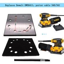 Fogli di sabbia a disco a 12 fori per disco abrasivo quadrato 115*105mm di ricambio per levigatrice DWE6411