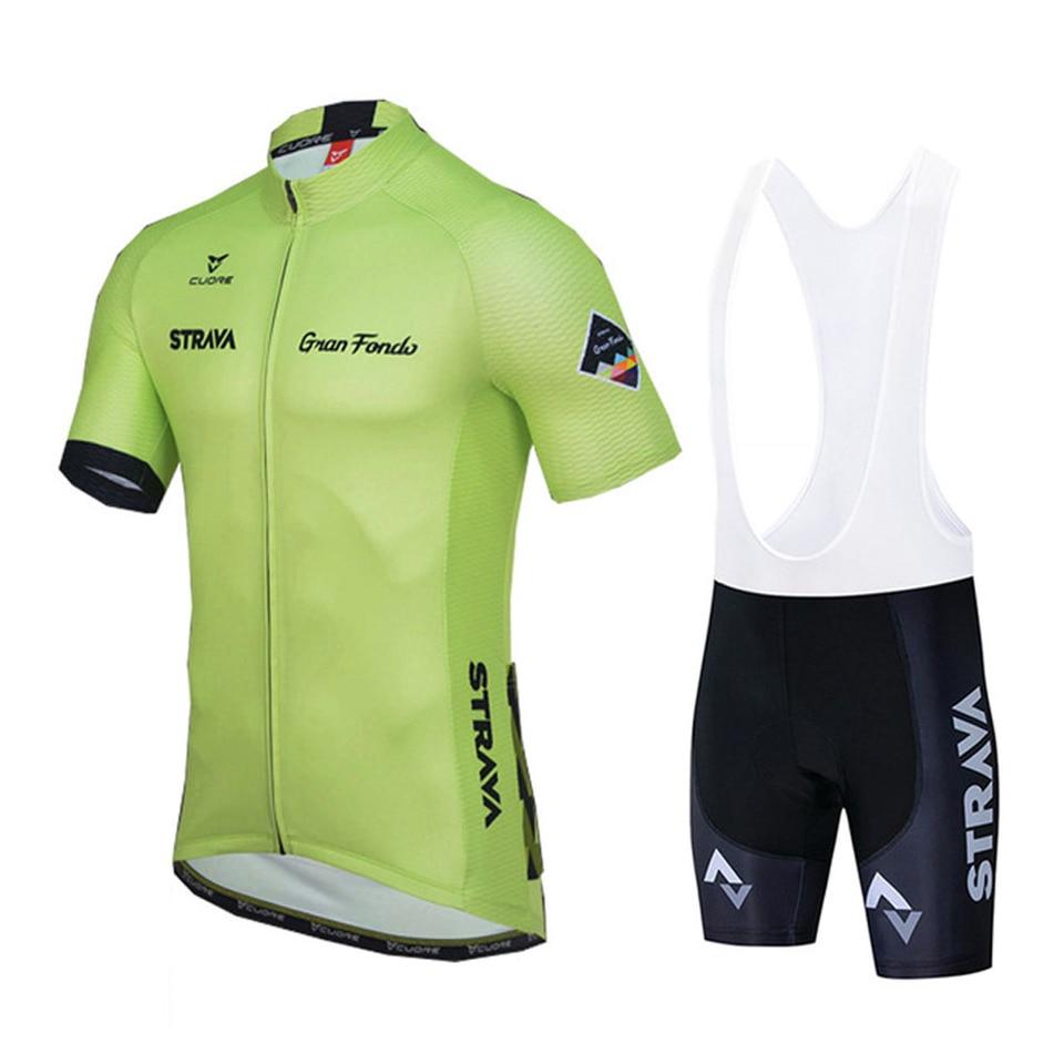 2020 MTB Road Cycling Mens Jersey Bib Shorts Set Short Shirt Pants Suits Outfits