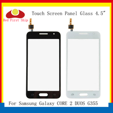 10Pcs/lot TouchScreen For Samsung Galaxy CORE 2 DUOS G355 G355H Touch Screen Digitizer Panel Sensor Front Outer Lens LCD Glass
