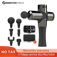 Booster Pro 3 Deep Tissue Massage Gun Muscle Stimulator Body Massager Fascial Gun Relax Therapy Low Noise for Fintness Shaping