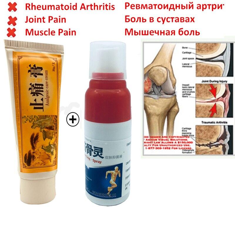 2019 Shaolin analgésique crème + douleur spray rhumatisme arthrite Muscle entorse genou taille dos épaule soulagement de la douleur spray