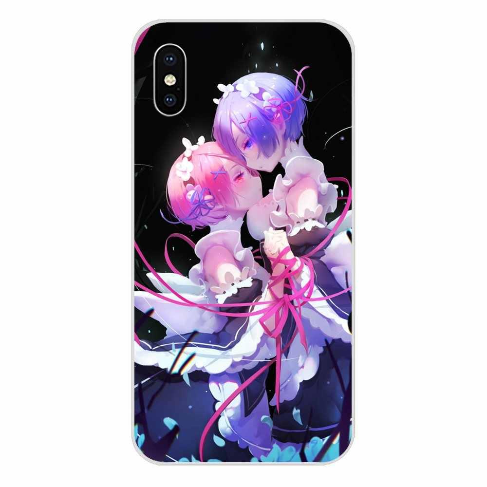 Sexy Anime Girl Ram Rem Re Zero For Sony Xperia Z Z1 Z2 Z3 Z4 Z5 compact Mini M2 M4 M5 T3 E3 E5 XA XA1 XZ Premium Soft Cute Case
