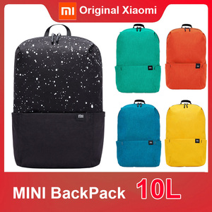 Original Xiaomi Mi Backpack 10L Bag Colorful small Size 165g Portable for Men Women travel camping school shopping