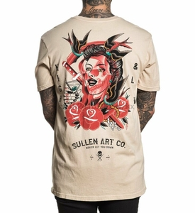 Sullen Highs And Lows Premium Beige Old School Tattoo T Shirt S-3xl New UK(China)