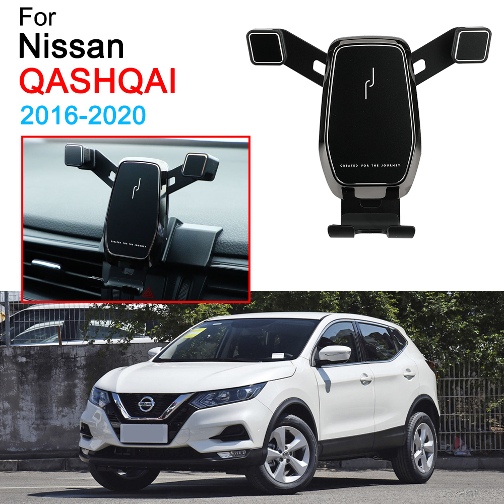 Car Mobile Phone Holder Support Air Vent Mount Clip Clamp Phone Holder For Nissan Qashqai Accessories 2016 2017 2018 2019 2020