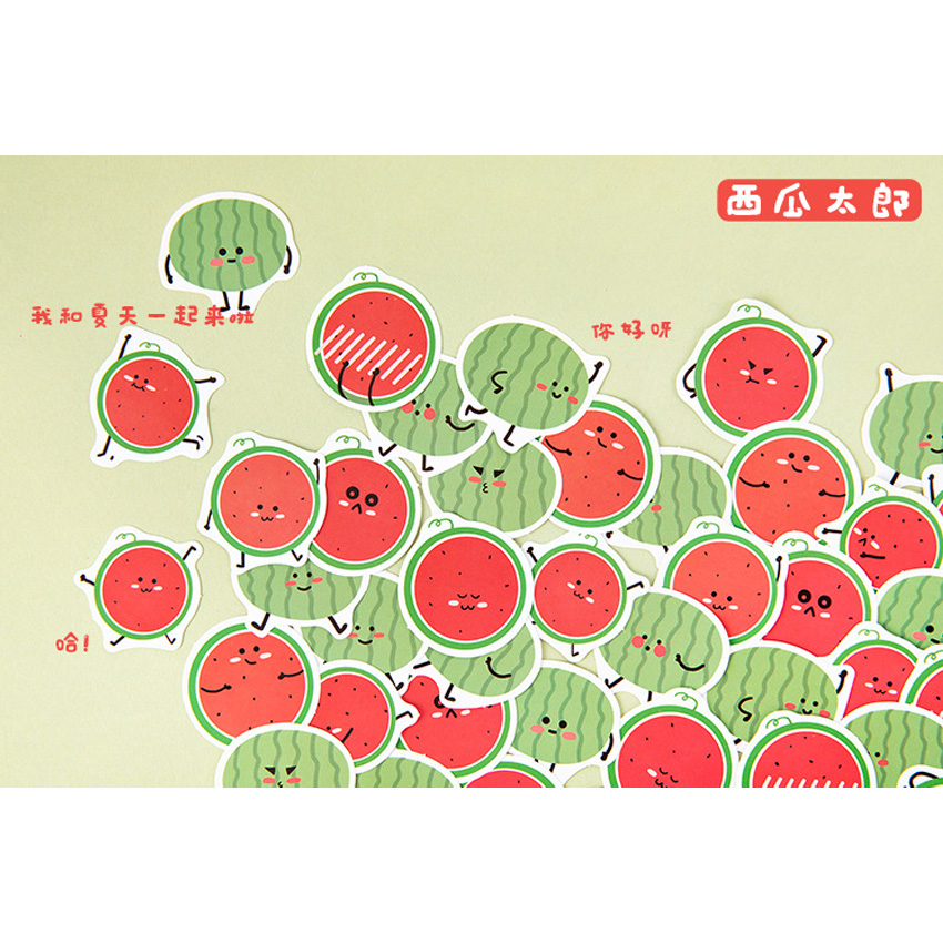 45pcs/pack Fruit Series Handmade Stickers Mini For The Diary Six Selections Stationery School Supplies