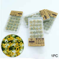 Vegetation Building Layout Artificial Sand Table Durable Static Scenery Model DIY Miniature Wargame Flower Cluster Grass Tufts