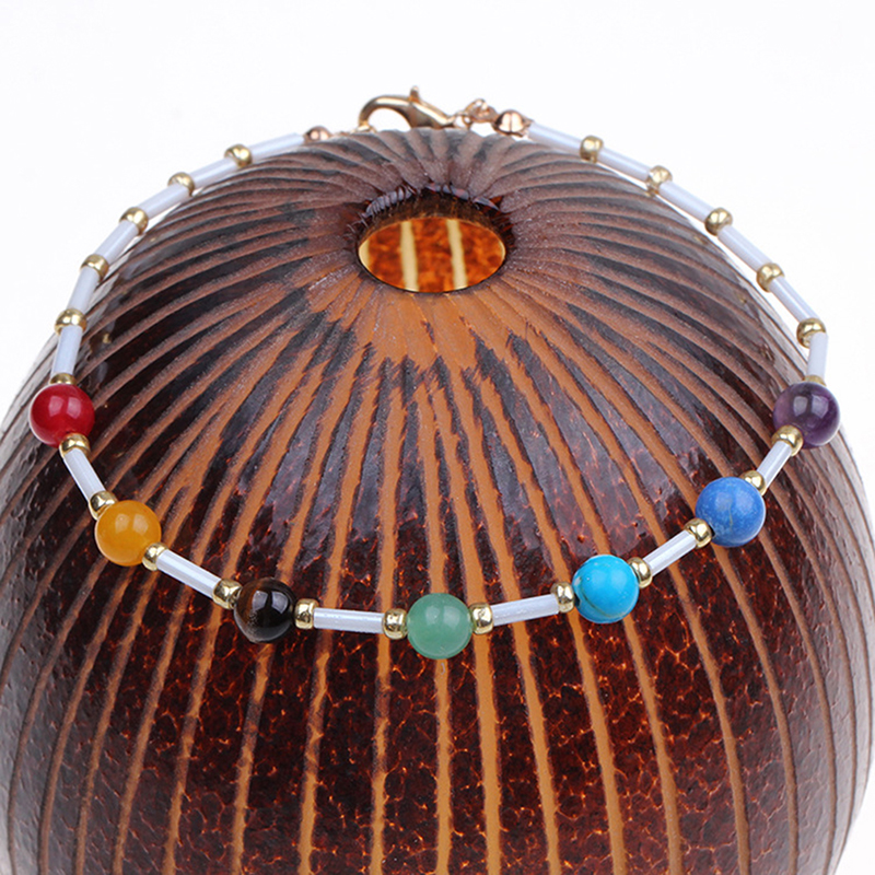 Bohemian Colorful Turkish Anklets For Women Multi Color Beads Summer Ocean Beach Ankle Bracelet Foot Leg Jewelry 2020