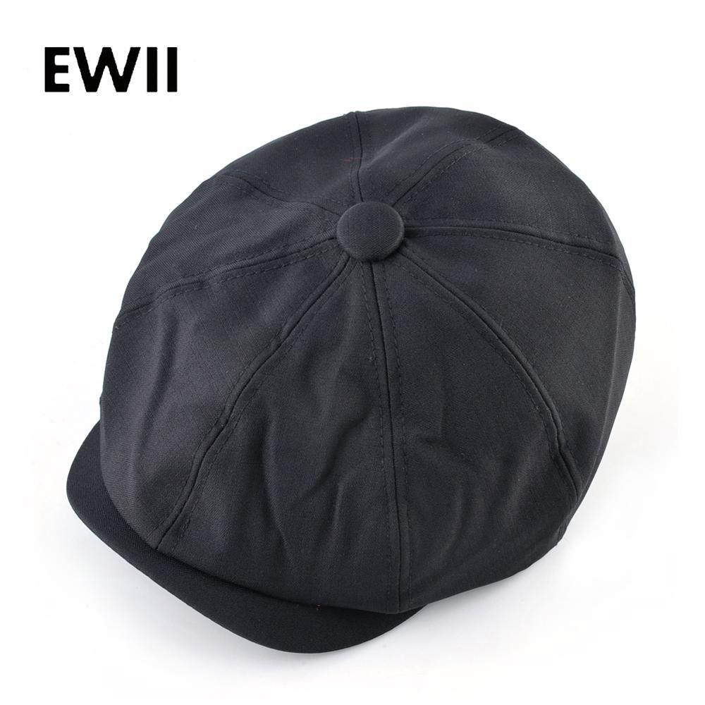 Fashion Black Newsboy Cap For Men Autumn Flat Caps Women Vintage Gatsby Retro Hat Men Winer Octagonal Hats Beret Gorras Plana