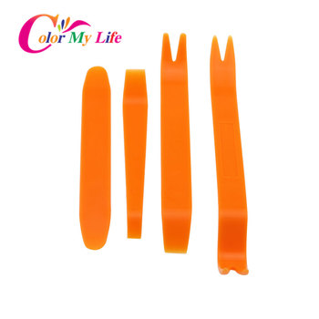 Car Styling Car Radio Disassembly Tool 4PCS/Set for Opel Volkswagen Golf 7 Vw Bmw E87 Bmw E91 for Ford Focus 2 3 Renault Clio 4 image