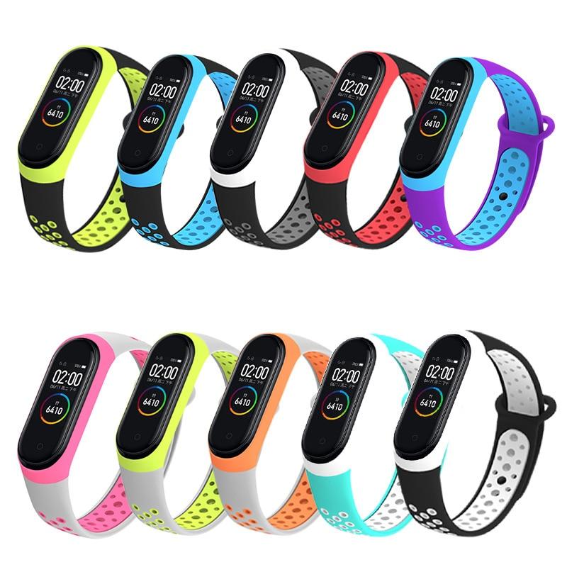 Sport Mi Band 3 4 Strap wrist strap for Xiaomi mi band 4 3 sport Silicone Bracelet for Mi band 4 3 band3 smart watch bracelet